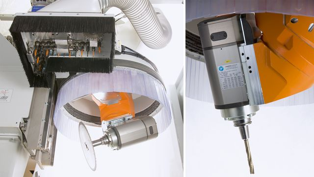 Powerful 5-axis cutter unit with up to 17 kW