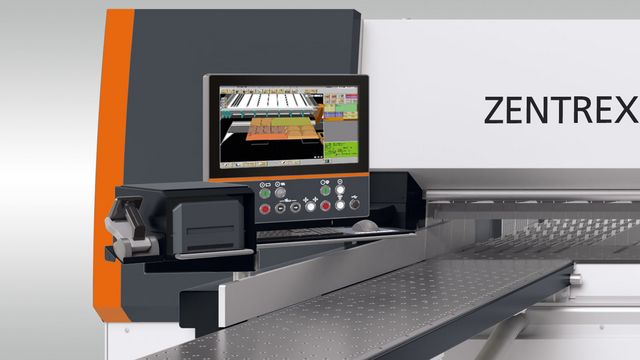 "The ZENTREX 6215 has a standard 21.5 ""control panel (option: touchscreen)."