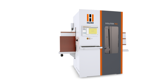 EVOLUTION 7402, the vertical drilling and cutting center from HOLZ-HER