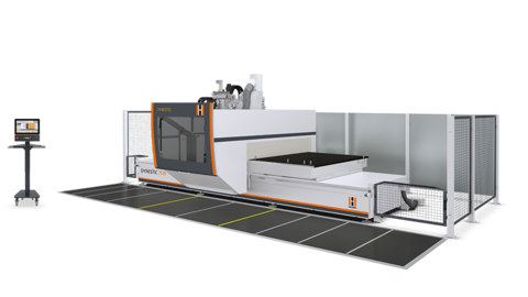 The 5-axis CNC nesting machine from HOLZHER - dynamic processing in XXL format with the Dynestic 7535